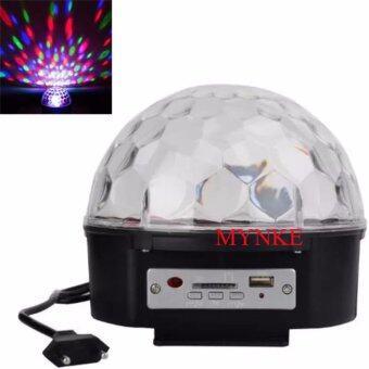 NKE AUDIO ไฟเวที ไฟดิสโก้ MP3 LED Magic Ball Light ไฟหมุนเปลี่ยนสี