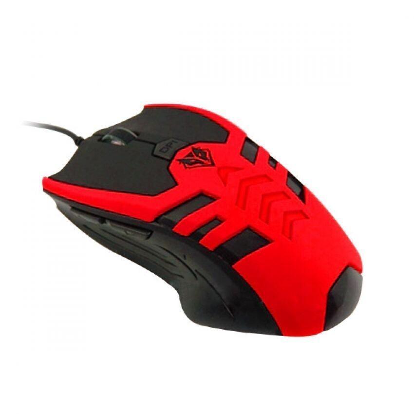 NUBWO Mouse Gaming สำหรับคอ เกมเมอร์ รุ่น Skeleton NM-69 - สีแดง