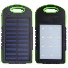 OneChoice Power Bank พลังงานแสงอาทิตย์ 3 ระบบ ใช้ไฟบ้านได้ และมีไฟฉายในตัว กันน้ำได้ (Solar Charger with LED Light ) ขนาด 50,000 mAh (สีดำ / เขียว) ถูกๆ