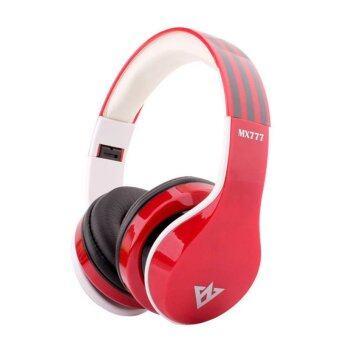 ราคา OVLENG MX777 หูฟังบลูทูธ สเตอริโอ ไร้สาย เสียงดี หูฟังครอบหู รองรับ FM/TF Card MP3 ไมโครโฟน สำหรับโทรศัพท์และคอมพิวเตอร์ (สีแดง)