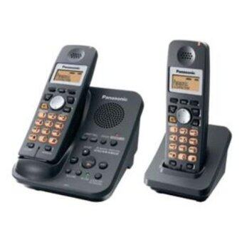 Panasonic โทรศัพท์ไร้สาย แพ็คคู่ รุ่น KX-TG3532BX (Black)