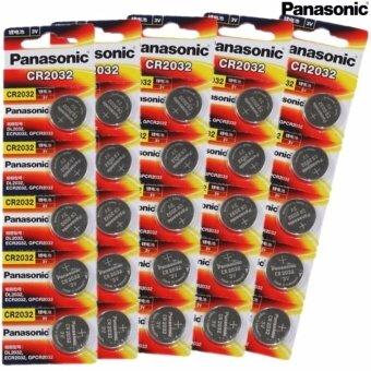 Panasonic ถ่านกระดุม lithium CR2032 (5 แพ็ค 25 ก้อน)