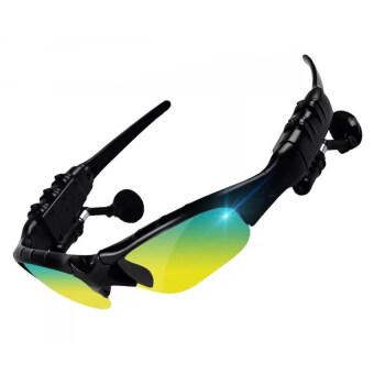 Polarized Sunglasses Bluetooth Stereo Headphone Smart Sunglasses (Green) - Intl