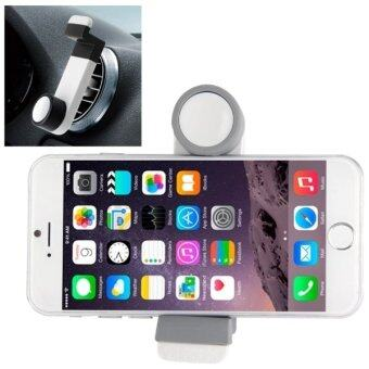 Portable Air Vent Car Mount Holder for iPhone 6 and 6 Plus / iPhone 5 and 5S (White/Grey) - INTL