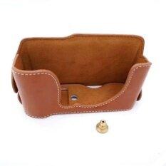 Protective High Quality Pu Leather Half Camera Case Bag Coverwithhollow Design For Fujifilm Xm1/xa1/xa2/xa3(cameranotincluded)brown - Intl ราคา 458 บาท(-30%)