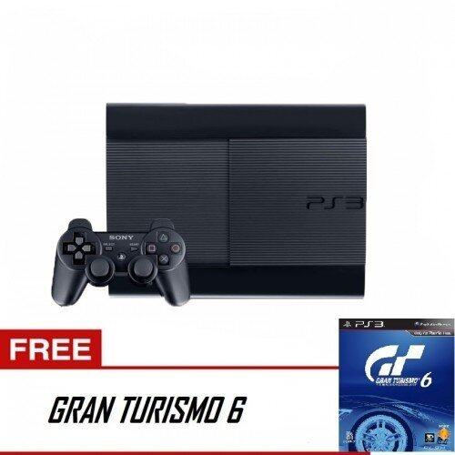 PS3 Super Slim 500GB + Game GT6 (Black)
