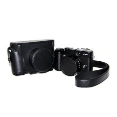 Pu Leather Half Camera Case Bag Cover Base Forfujifilmx100100sblack(camera Not Included) - Intl ราคา 955 บาท(-29%)