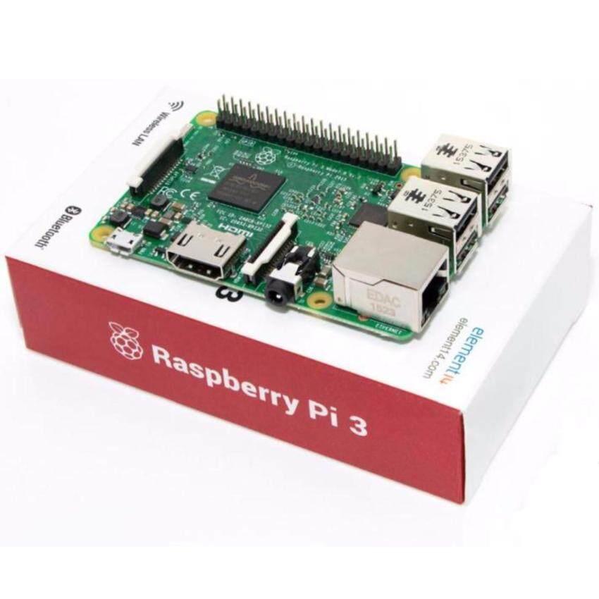 ด่วน Raspberry Pi Element14 Raspberry Pi 3 Model B 64-bit 1.2GHzquad-core processor 1GB of RAM ลดราคา
