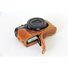 Retro Vintage Pu Leather Half Body Set Cover Camera Bag Bottomcasefits For Canon Powershot G7xii G7x Ii G7x Mark2 Camera - Intl ราคา 502 บาท(-30%)