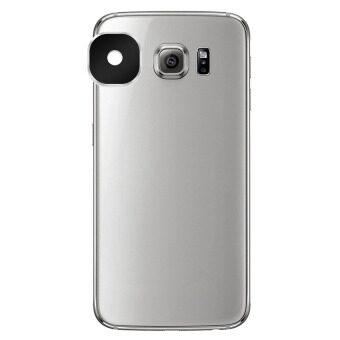 Reusable Aluminum Alloy Camera Lens Protector Sticker for SamsungGalaxy S6 / S6 Edge - Black - Intl