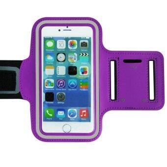 Running Jogging Sport Gym Armband Reflective Case Cover For iPhone iPhone 6 Purple