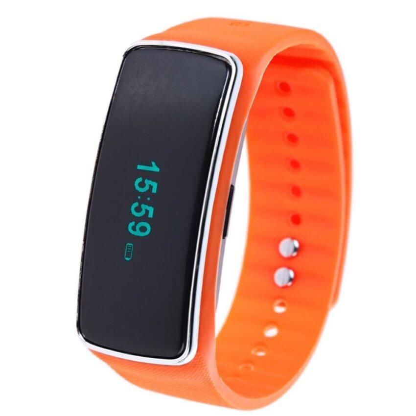 S1 Bluetooth4.0 Smartband Pedometer Health Monitor (Orange) - intl ...