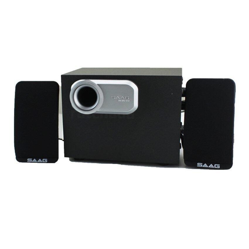 แนะนำSAAG Multimedia Speaker ชาร์คลำโพงสเตอริโอ 2.1 แชนแนล 800W (สีดำ) ราคาถูก