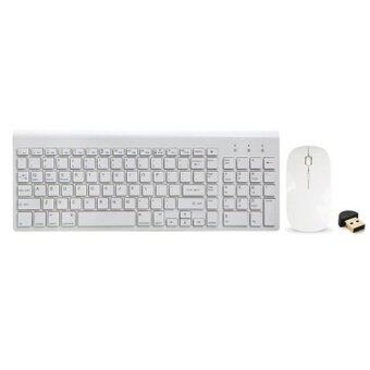 SEENDA Chocolate Wireless Bluetooth Keyboard With Bluetooth Mouse And Adapter For Computer PAD Phones(White)(INTL)