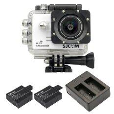 Sjcam Sj5000x 4k Gyro With Extrabattery (total 2pcs) And Dual Charger(white) ราคา 3,790 บาท(-46%)