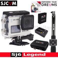 Sjcam Sj6 Legend 4k,16mp เมนูไทย(silver)+kingston32gb+battery+dualcharger+bag(l)+remoteselfie ราคา 6,750 บาท(-19%)