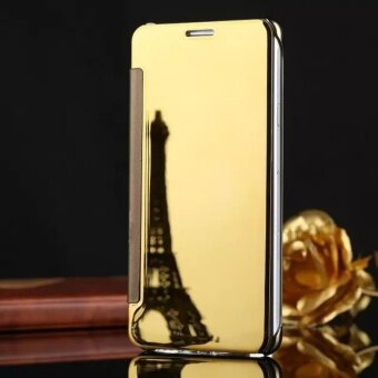 Smart Sleep Mirror Flip Case Cover For Samsung Galaxy Note 5(gold)- intl