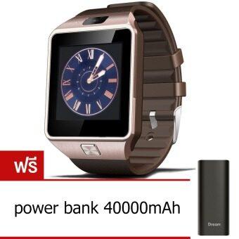 2561 Smart Watch Z นาฬิกาโทรศัพท์ รุ่น A9 Phone Watch (Gold) ฟรี 40000mAh