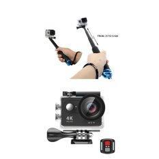 Sports Eyerayo H9r Ultra Hd 4k 30fps Wifi Sports Camera 2-Inch Lcd Action Cam Camcorder 30-Meter Waterproof Sport Dvr H9r Helmet Camera Cam Dv Action Camcorder + 2.4g Remote Control Shutter (black) - Intl ราคา 1,699 บาท(-66%)