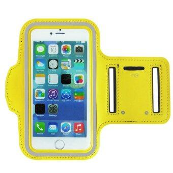 Sports Gym Armband Cover Jogging Cycling Running Arm Holder Case For iPhone6plus 5.5inch(Yellow) - INTL