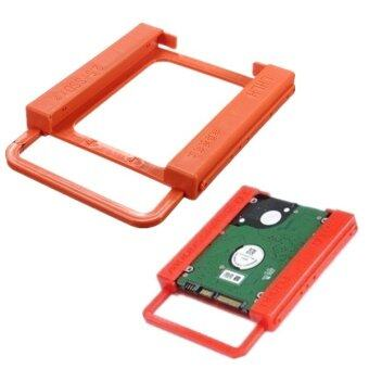 SSD to HDD 2.5 Inch to 3.5 Inch Screw Less Hard Drive Holder (Orange) - Intl