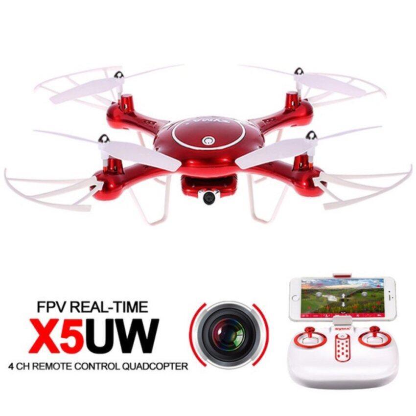 Syma โดรนบังคับ โดรนติดกล้อง X5UW Wifi (สีแดง)