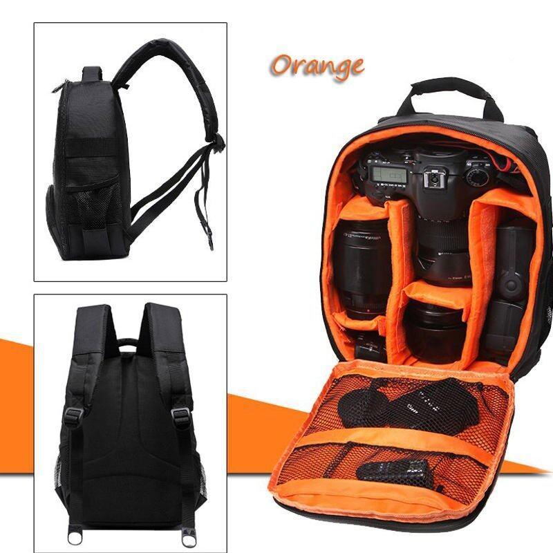 Tigernu T-C6005 กระเป๋ากล้อง แบบเป้สะพายหลัง กันน้ำ Waterproof Multi-Functional Camera Backpack สีส้ม