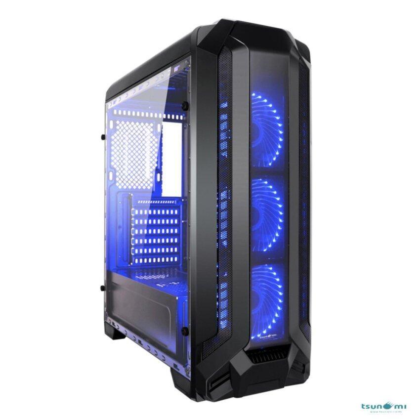 Tsunami Pro Hero K2 Series Full-view tempered glass panel (with 33 PCS LED 12 CM Fan X 3) KB