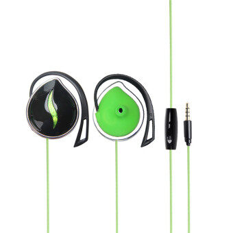 TTLIFE New Fashion Style 3.5mm Ear hook Stereo Earphones SportsHeadphone Headsets Bass with mic for iPhone Samsung Xiaomi Sony MP3MP4(green)