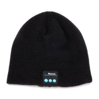Ubit Wireless Bluetooth Earphone Men Women Outdoor Sport Bluetooth Stereo Magic Music Hat Black - Intl