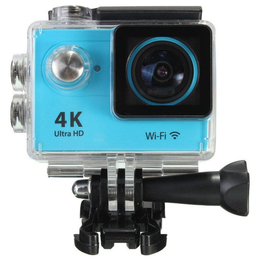 Ultra 4K 1080P HD WiFi 12MP Waterproof Sports DV ActionCameraHelmet Camcorder (Blue) - i ...