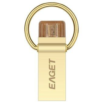 USB 3.0 OTG Pen Drive Mobile Phone USB Flash Disk Gift USB Flash Drive 64GB (Gold) - intl