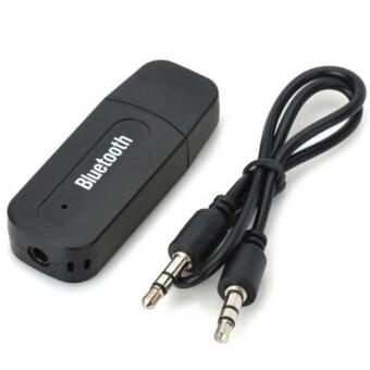 USB Wireless Bluetooth 3.5mm Music Audio Car Handsfree Receiver Adapter - intl