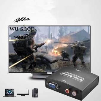 VGA to HDMI Adapter HD VGA R/L Audio and Video Converter 1080P (Black)