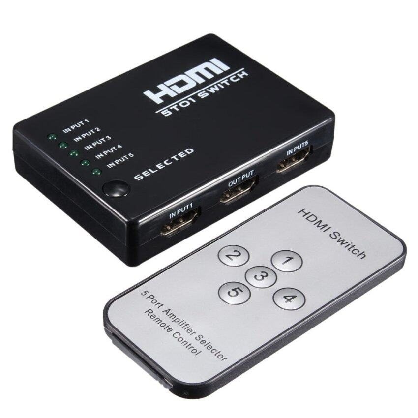 Video HDMI Switch Box Switcher Splitter For HDTV PS3 DVD IR Remote ...