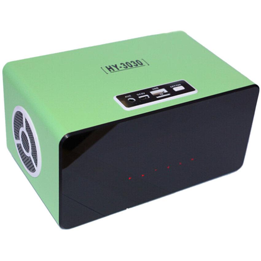 Vococal Sensitive Touch Wireless USB Portable Mini Speaker With FM Radio (Green)