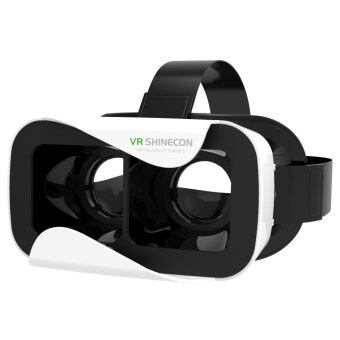 VR Shinecon III 3D Glasses Virtual Reality Headset Private Theater Game Video for 4.7 - 6.0 inch Smartphone (White)