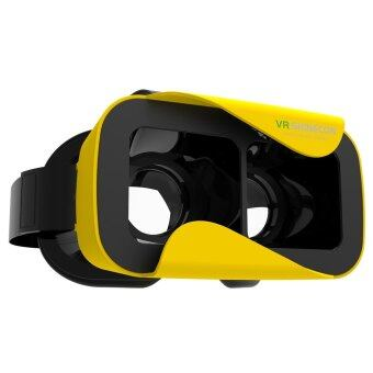 VR Shinecon III 3D Glasses Virtual Reality Headset Private Theater Game Video for 4.7 - 6.0 inch Smartphone (Yellow)