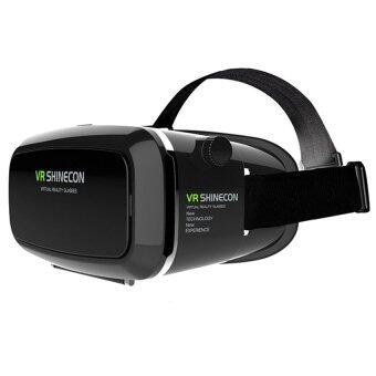 VR SHINECON Virtual Reality Mobile Phone 3D Glasses 3D Movies Games With Resin Lens (Black)