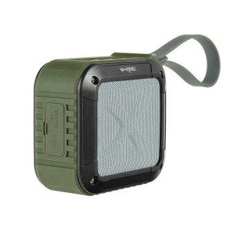 2561 W-KING S7 Bluetooth Speaker Portable NFC (Army Green)