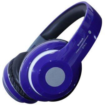 หูฟังไร้สาย บูลทูช Wireless Bluetooth Headphone With Micro SD Card Slot FM STN-16 (สีน้ำเงิน)