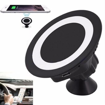 Wireless Car Charging Pad with Stand Holder For Samsung Galaxy S6/S6 Edge(Black) - intl