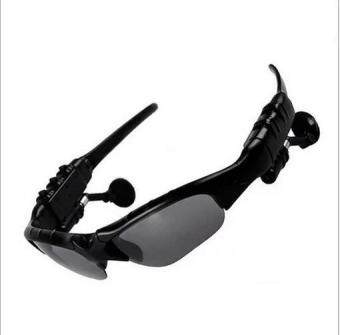 Wireless Handsfree Bluetooth MP3 Sunglasses Headset Sports Glasses Car Driving sunglasses (Black) - Intl