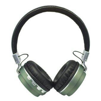 Wireless Speaker หูฟังบลูทูธ 4.0 รุ่น Metal Sport Beat Bluetooth BT008 (สีเขียว)