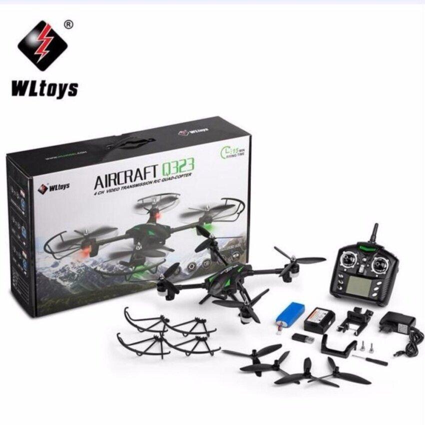 โดรนบังคับ โดรนติดกล้อง WLtoys บินถ่ายภาพ WLtoys Q323 Q323-B Wifi FPV with 0.3MP Camera Air Press Altitude Hold RC Quadcopter RTF