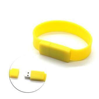 Wrist Bracelet USB Flash Drive 32GB USB 2.0 pen drive_yellow