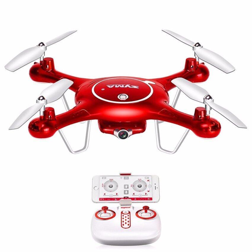 X5UW 720P WIFI โดรนติดกล้อง SYMA รุ่น X5UW อุปกรณ์ครบพร้อมบิน(สีแดง)