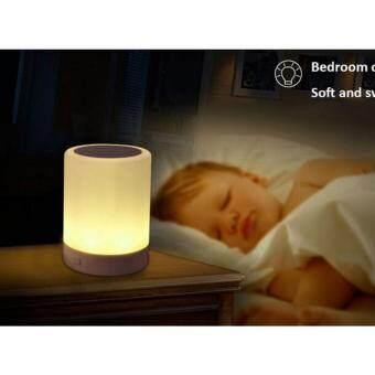 ราคา Y02 LED Magic Touch Lamp Bluetooth Speaker TF/SD/FM ลำโพงบลูทูธโคมไฟ LED เปลี่ยนสีได้