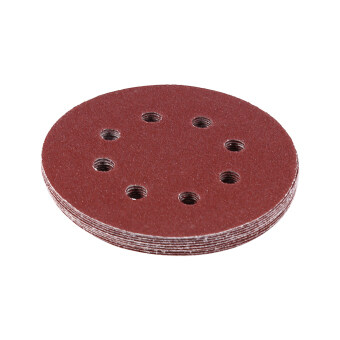 125mm Polishing Pads Red Sanding Discs 8 Hole Grit SandPapers(100#) - intl