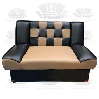 โซฟาปรับนอน 2 ที่นั่ง รุ่นRT-2 ( สีโอวัลติน+ดำ )